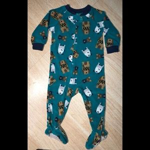 Just OneYOUmade by Carter's doggie print Footies🐶